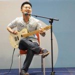 Teacher kelvin on stage @ Kids Expo (1st performance of even